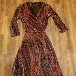 EUC-EXTREMELY BEAUTIFUL RED/BLK ARDEN B WRAP DRESS